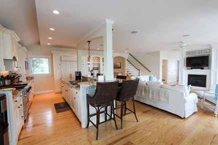 Barnstable Cape Cod vacation rental - Chef's kitchen with top of the line appliances & eat-up counter.