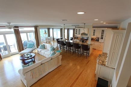 Barnstable Cape Cod vacation rental - Open floor plan - Fireplaced living rm, chef's kitchen & dining