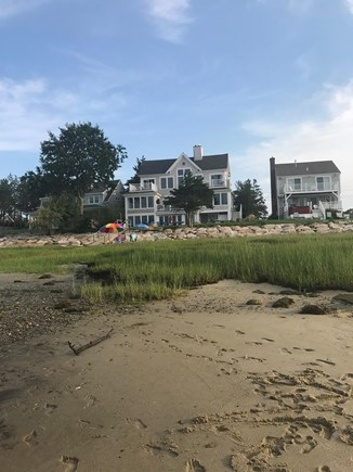Barnstable Cape Cod vacation rental - Back of the house from beach at low tide