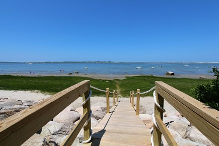 Barnstable Cape Cod vacation rental - Yard steps down to private, sandy beach.