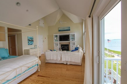 Barnstable Cape Cod vacation rental - Ocean front - master bedroom w/private master bedroom (king bed)