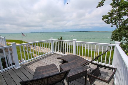 Barnstable Cape Cod vacation rental - Private master oceanfront deck with 2 loungers