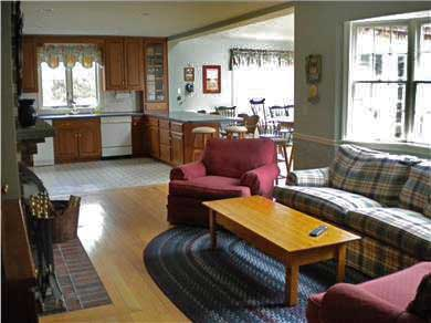 East Falmouth Cape Cod vacation rental - Open kitchen, dining and family room