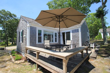 Hyannisport Cape Cod vacation rental - Barbecue on the Weber Grill or sit with a cold drink & enjoy.