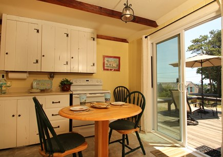 Hyannisport Cape Cod vacation rental - Whether cooking in or having takeout delivered enjoy the view.