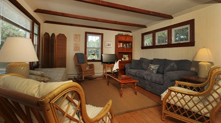 Hyannisport Cape Cod vacation rental - Living Room has plenty of comfortable seating and flat screen tv.
