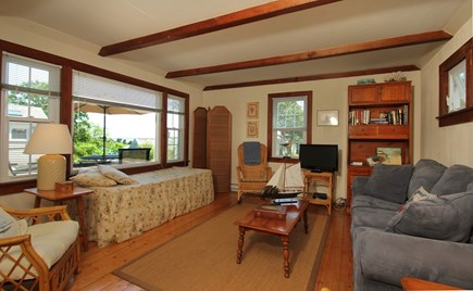Hyannisport Cape Cod vacation rental - Spacious and comfortable livingroom with ocean views.