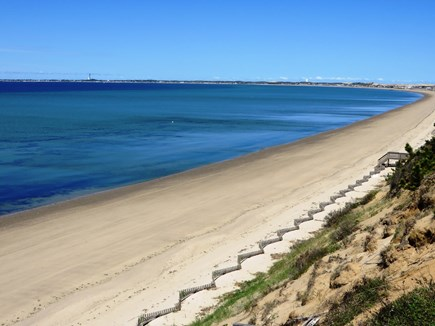 Lookout Bluff, N Truro Cape Cod vacation rental - Cape Cod Bay Beach from top of Lookout Bluff