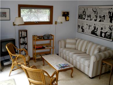 Truro Cape Cod vacation rental - Living room with convertible couch