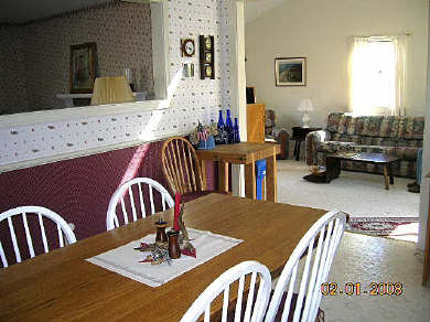Brewster Cape Cod vacation rental - Dining Table looking into Family Room