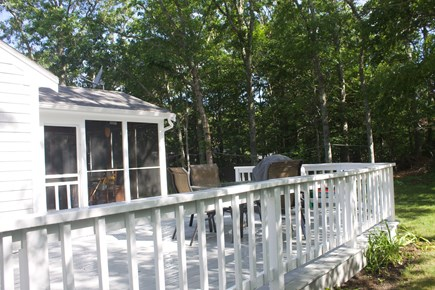 Mashpee Cape Cod vacation rental - Wrap-around porch with grill and patio dining