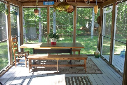 Mashpee Cape Cod vacation rental - Beautiful screen porch just off of the kitchen