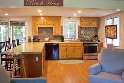 Mashpee Cape Cod vacation rental - Open floor plan kitchen and living room