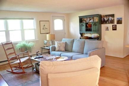 Mashpee Cape Cod vacation rental - First-floor living room, open floorplan with kitchen