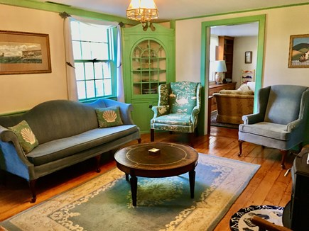 Barnstable Village Cape Cod vacation rental - Relaxing sitting room with cozy stove
