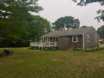 Dennisport Cape Cod vacation rental - Enormous back yard provides privacy and room for outdoor games.