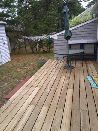 Dennisport Cape Cod vacation rental - Backyard Deck