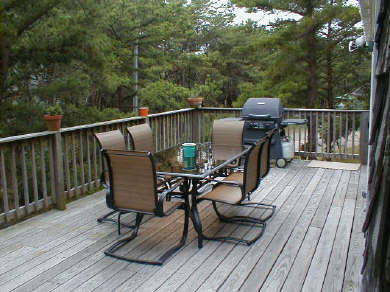 Truro Cape Cod vacation rental - Upper Deck for your outside dining pleasure