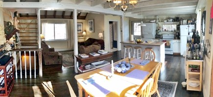 Truro Cape Cod vacation rental - Dining, kitchen, and sitting areas