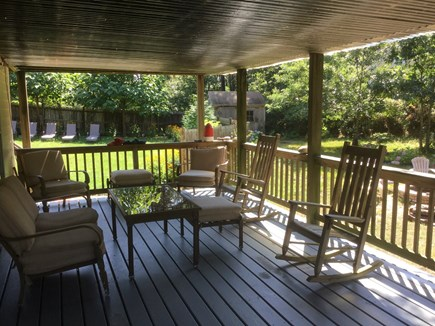 Truro Cape Cod vacation rental - Shaded deck on first floor