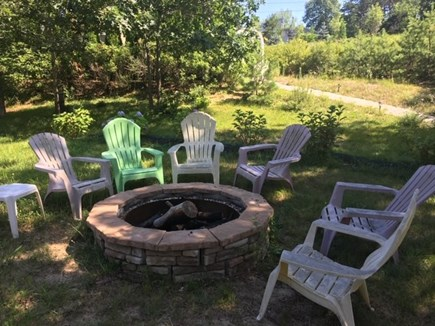 Truro Cape Cod vacation rental - Enjoy a summer evening around the fire pit