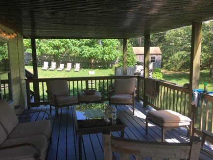 Truro Cape Cod vacation rental - Covered first floor deck where you can cool off