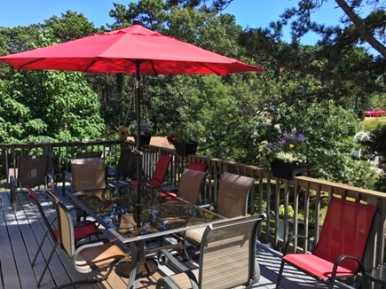 Truro Cape Cod vacation rental - Upper deck to enjoy a meal (in the shade) any time of day