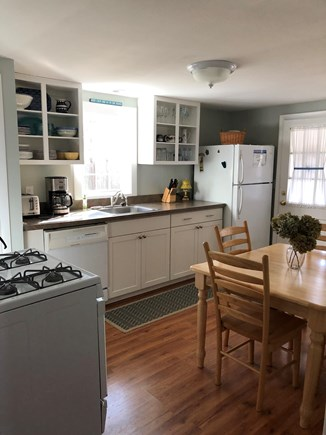 South  Yarmouth, Bass River Cape Cod vacation rental - Kitchen with dining table.