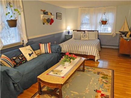 West Brewster/East Dennis Cape Cod vacation rental - Large upstairs queen bedroom with sitting area
