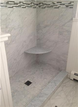 West Brewster/East Dennis Cape Cod vacation rental - First floor renovated bathroom with walk-in shower