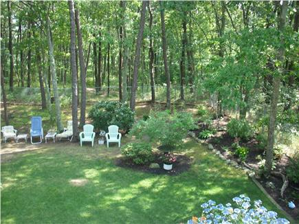 West Brewster/East Dennis Cape Cod vacation rental - Private fenced-in back yard with outdoor shower