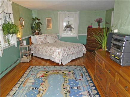 West Brewster/East Dennis Cape Cod vacation rental - Master bedroom upstairs with TV