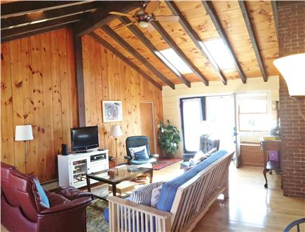 Brewster Cape Cod vacation rental - Open great room with TV, games, internet and queen futon.