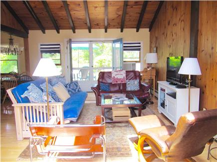 Brewster Cape Cod vacation rental - Double doors front and back offer cross ventilation.