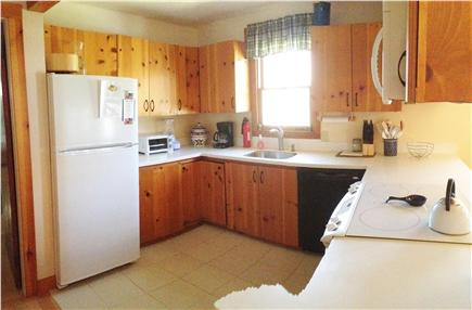 Brewster Cape Cod vacation rental - Open cook's kitchen with microwave, dishwasher, etc.