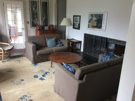 Cotuit Cotuit vacation rental - Living room with fireplace.