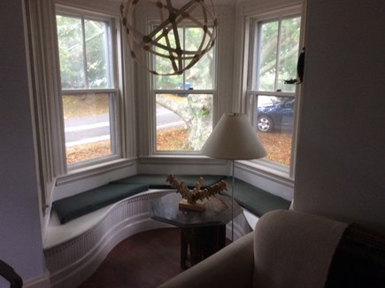 Cotuit Cotuit vacation rental - Window seat in downstairs tower room.