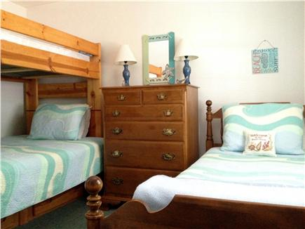 West Yarmouth Cape Cod vacation rental - Bunk bed, full size bottom bed, dresser & TV