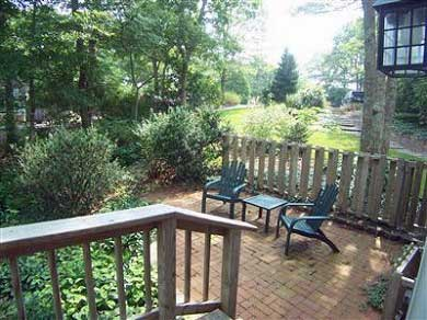 Centerville, Barnstable Centerville vacation rental - The red brick patio, perfect for evening drinks!