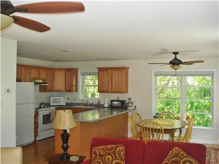 South Chatham Cape Cod vacation rental - Dining area, open to kitchen and living area