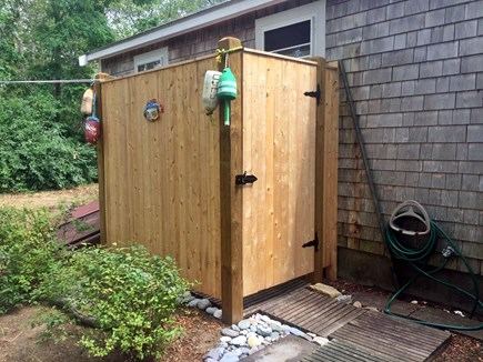 Eastham Cape Cod vacation rental - Brand new outdoor shower.