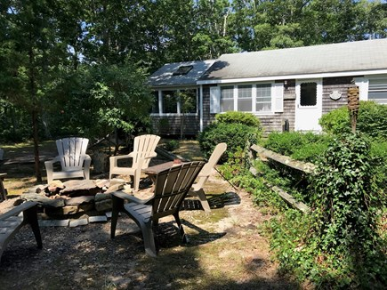 Eastham Cape Cod vacation rental - Private locale; relax around the fire pit, bring a hammock!