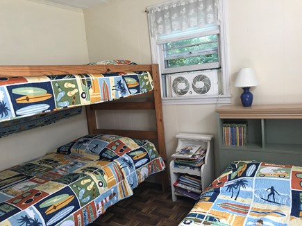 Eastham Cape Cod vacation rental - 2nd bedroom; drawers & closet space; window fan.