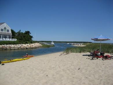 New Seabury, Bright Coves New Seabury vacation rental - The Spit Beach is just 4/10's of a mile away!