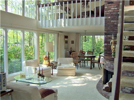 New Seabury, Bright Coves New Seabury vacation rental - Living room, dining room, upper loft