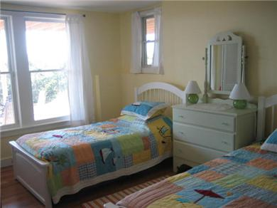 Wellfleet Cape Cod vacation rental - Lower level twin bed room with ocean views.