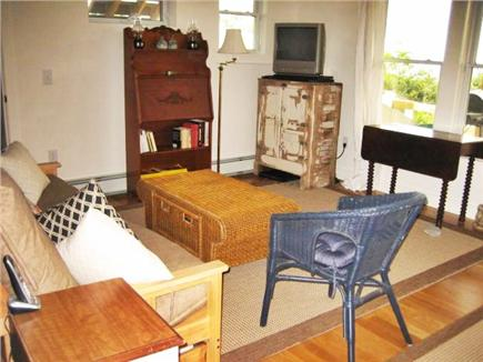 Wellfleet Cape Cod vacation rental - Lower level family room with TV, futon and ocean views.