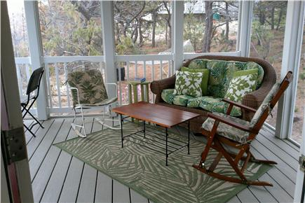 Wellfleet Cape Cod vacation rental - Screened in porch for reading and relaxing with ocean views.