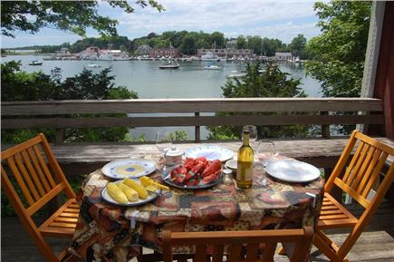 Woods Hole Woods Hole vacation rental - Dine on house deck with sweeping views