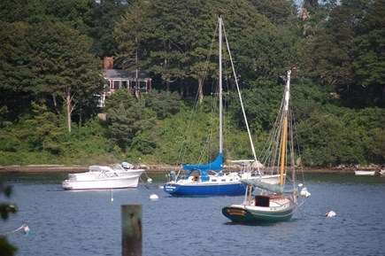 Woods Hole Woods Hole vacation rental - View of the house from Little Harbor.